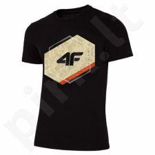 Marškinėliai 4F M H4L19-TSM010 20S juodas