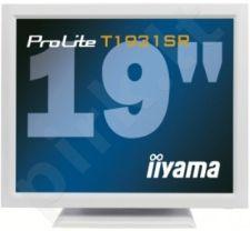 Jutiklinis monitorius Iiyama T1931SR 19'', 5ms, DVI, Garsiakalbiai, Baltas