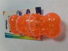 Žaislas lateksinis oranžinis kauliukas 13.5*5.6cm