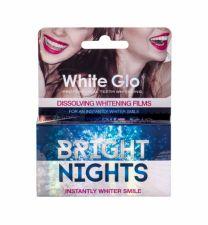 White Glo Bright Nights, Whitening Films, dantų balinimui moterims ir vyrams, 6pc