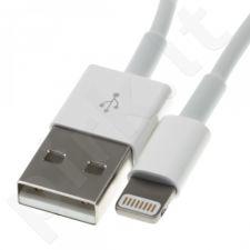 Apple iPhone 5/6 duomenų perdavimo kabelis MD818ZM/A 1m baltas