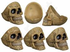 Ornamentais dekoruota kaukolės formos peleninė