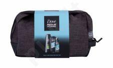 Dove Clean Comfort, Men + Care, rinkinys dušo želė vyrams, (dušo želė Clean Comfort 250 ml + šampūnas 2in1 Fresh & Clean 400 ml + Antiperspirant Clean Comfort 150 ml + kosmetika krepšys)