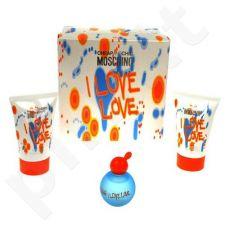 Moschino (EDT 4.9 ml + 25 ml kūno losjonas + 25 ml dušo želė) I Love Love, rinkinys moterims