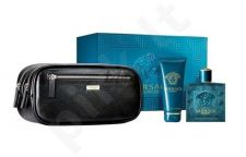 Versace (EDT 100 ml + 100 ml dušo želė + Vanity bag) Eros, rinkinys vyrams