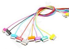 4World Galaxy Tab Kabelis USB 2.0 perkėlimo/įkrovimo 1.0m juodas