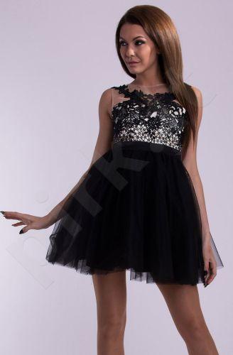 EVA&LOLA suknelė - juoda 10008-1