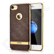 TPU leather back cover case with gold details, coffee (iPhone 7/8)