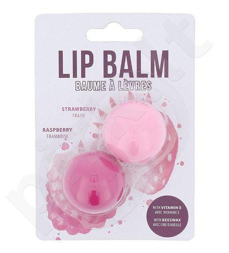 2K Duo lūpų balzamų rinkinys moterims, (2,8g Strawberry balzamas + 2,8g Raspberry balzamas) , (Strawberry)