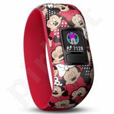 Vaikiškas laikrodis vivofit jr2, WW, Stretchy, Minnie Mouse 010-01909-00