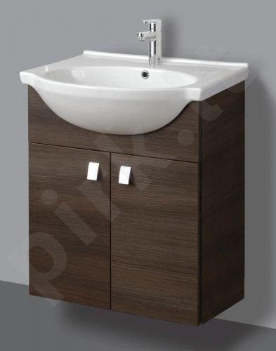 Apatinė pakabinama vonios spintelė SA 60-11 dark su praustuvu Riva 60