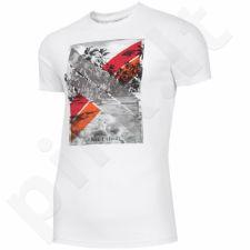 Marškinėliai 4F M H4L19-TSM025A 10S baltas
