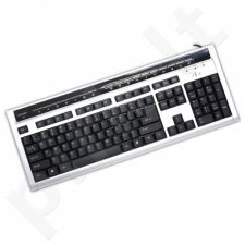 ART Klaviatūra AK-52MF chrome Flatboard USB (juoda-sidabrinė)