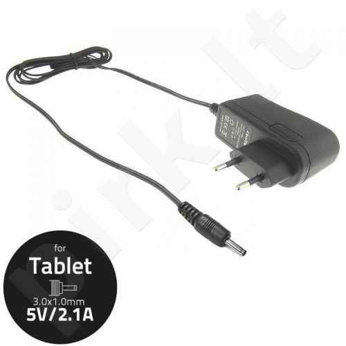 Qoltec AC adapter for Tablet 5V-2.1A, connector: 3.0x1.0
