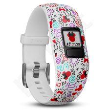 Vaikiškas laikrodis vivofit jr2. WW, Adjustable, Minnie Mouse 010-01909-10