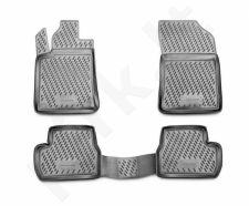 Guminiai kilimėliai 3D CITROEN C3  01/2010->, 4 pcs. /L10025G /gray