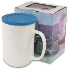 Puodelis su silikoniniu arbatai dėklu-Met Turkus