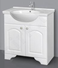 Apatinė vonios spintelė SA 80-2 su praustuvu Riva 80