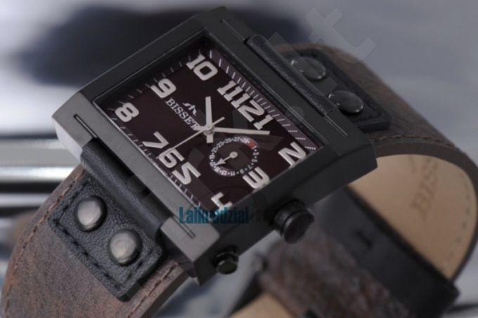 Universalus laikrodis BISSET Tramelan BS25B51 MB BK BR