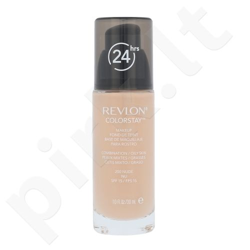 Revlon Colorstay makiažo pagrindas kombinuotai,riebiai odai, kosmetika moterims, 30ml, (200 Nude)
