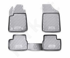 Guminiai kilimėliai 3D CITROEN C3 2002-2009, 4 pcs. /L10026G /gray