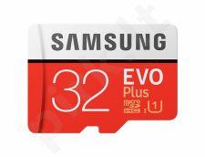 Samsung atminties kortelė EVO Plus microSDHC 32GB Class 10 UHS-I