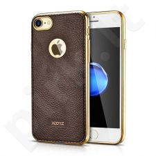 Elegant TPU leather back cover case, coffee (iPhone 7/8)