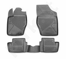 Guminiai kilimėliai 3D CITROEN C4 Picasso 2007-2013, 4 pcs. /L10031G /gray