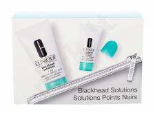 Clinique 7 Day Deep Pore Cleanse & Scrub, Blackhead Solutions, rinkinys valomoji želė moterims, (Soothing valiklis 30 ml + Deep Pore Cleans & Scrub Self-Heating Blackhead Extractor 7 ml + kosmetika krepšys)