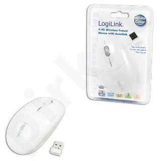 Bevielė optinė pelė LogiLink 2.4 GHz Balta