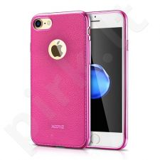 Elegant TPU leather back cover case, pink (iPhone 7/8)