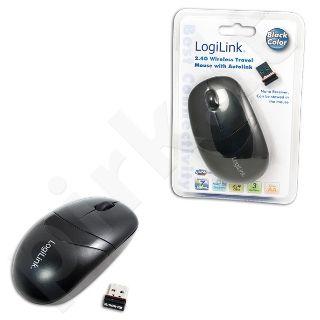 Bevielė optinė pelė LogiLink 2.4 GHz Juoda