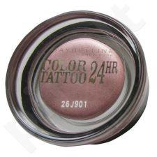 Maybelline Color Tattoo 24H akių šešėliai, kosmetika moterims, 4g, (60 Timeless Black)