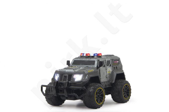 Radio bangomis valdomas Jamara SWAT džipas 27MHz su LED