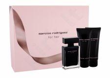 Narciso Rodriguez For Her, rinkinys tualetinis vanduo moterims, (EDT 50 ml + dušo želė 75 ml + kūno losjonas 75 ml)