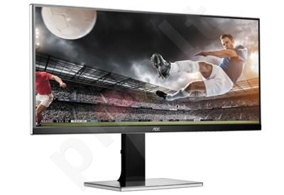 AOC Monitor LED U3477PQU 34'' WQHD, 5ms, D-Sub, DVI-D, HDMI, DP, speaker