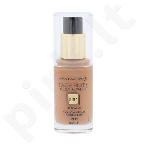 Max Factor Face Finity 3in1 makiažo pagrindas SPF20, kosmetika moterims, 30ml, (85 Caramel)
