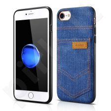 Jeans pocket PU back cover case, dark blue (iPhone 7/8)