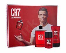 Cristiano Ronaldo CR7, rinkinys tualetinis vanduo vyrams, (EDT 100 ml + pieštukinis dezodorantas 75 ml + balzamas po skutimosi 100 ml)
