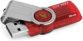 Atmintukas Kingston DT101G2 8GB, Pasukamas, Raudonas