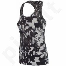 Marškinėliai treniruotėms 4f W H4Z17-TSDF001 juoda-biała