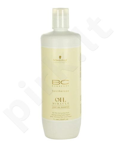 Schwarzkopf BC Bonacure Oil Miracle Light Oil šampūnas, kosmetika moterims, 1000ml