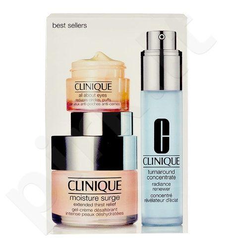 Clinique Best Sellers rinkinys moterims, (50ml Moisture Surge gelis-kremas + 30ml Turnaround Concentrate + 15ml aplink akis)