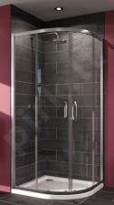 Akcija! Kampas dušo Huppe X1 90x90cm, sidabras/persišviečiantis stiklas