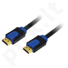 Kabelis HDMI LogiLink High Speed su Ethernet v.1,4 su 3D, 2m