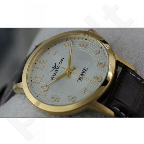 Universalus laikrodis RUBICON RNDC64 MG WH BK