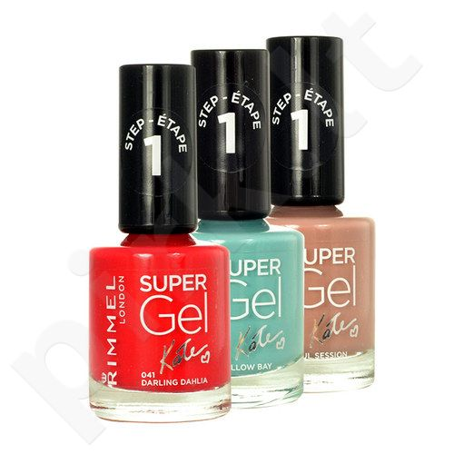 Rimmel London Super Gel By Kate, STEP1, nagų lakas moterims, 12ml, (034 Hip Hop)