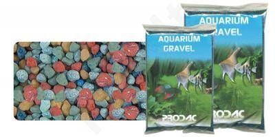 Gruntas akvariumui spalvota keramika 2-3 mm 2.5 kg