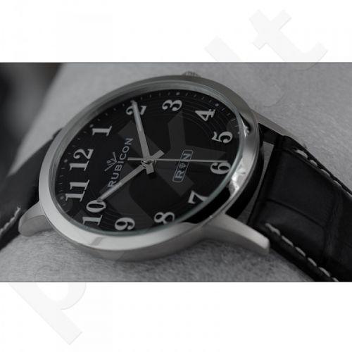 Universalus laikrodis RUBICON RNDC64 MS BK BK