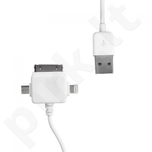 Whitenerg Universal Kabelis USB 2.0  perkėlimo/įkrovimo 100cm baltas